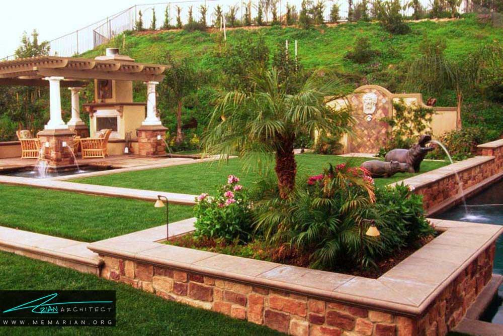 طراحی فضای سبز و چشم انداز زیبا برای خانه های ویلایی