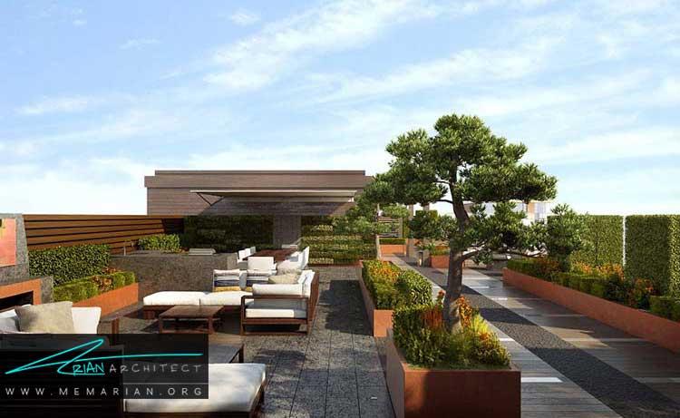 فضای سبز و محوطه سازی خانه های ویلایی