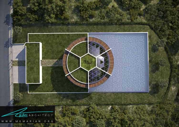 خانه مسی الهام گرفته از توپ فوتبال