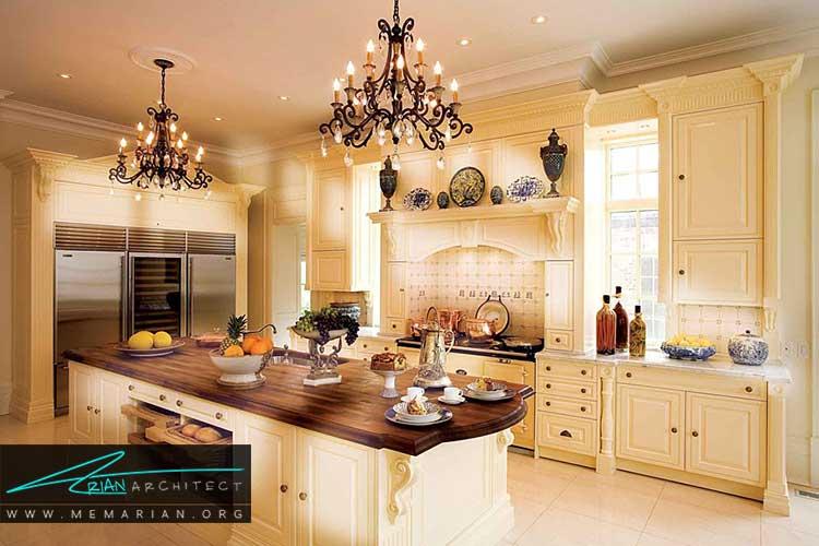 دکوراسیون آشپزخانه های مدرن وسنتی