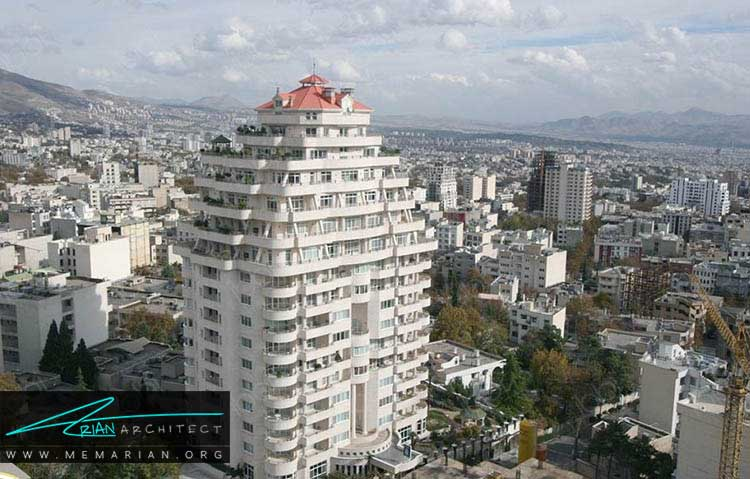 برج مسکونی بهشت از خانه های مجلل تهران