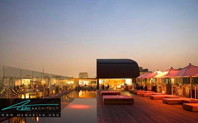 یکی از زیباترین استخرهای جهان در هتل اسکای سائوپائولو در برزیل