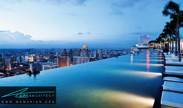 مرتفع ترین و زیباترین استخر در سنگاپور