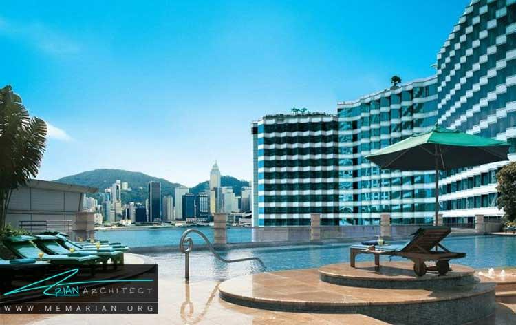 زیباترین استخر هنگ کنگ در هتل هاربور پلازا