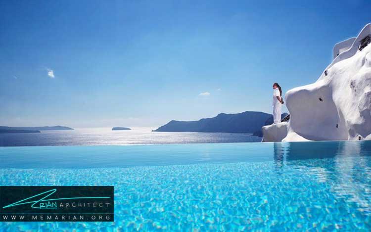 استخر هتل کاتیکی در سانتورین از زیباترین استخرهای جهان