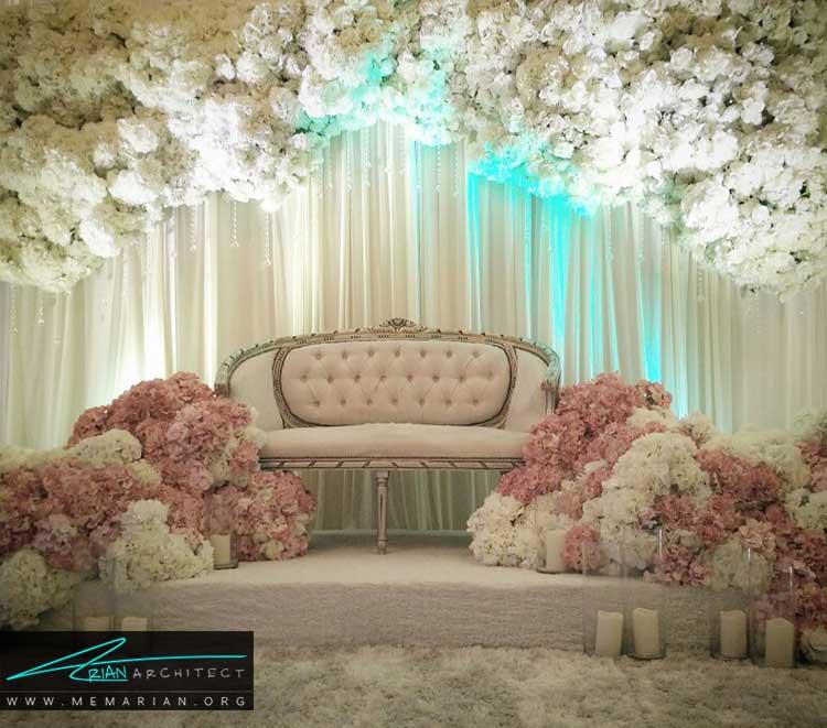 تزیین کلبه ی عروس با گل