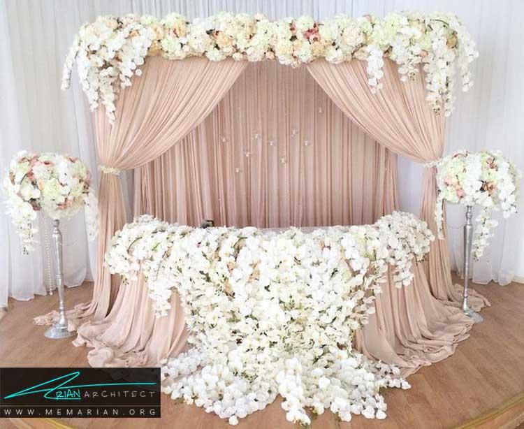 کلبه ی عروس با تزیینات ساده و زیبا