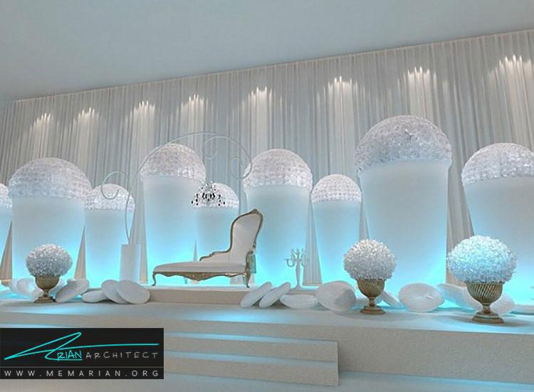 طراحی مینیمالیستی در تزیین و چیدمان کلبه عروس
