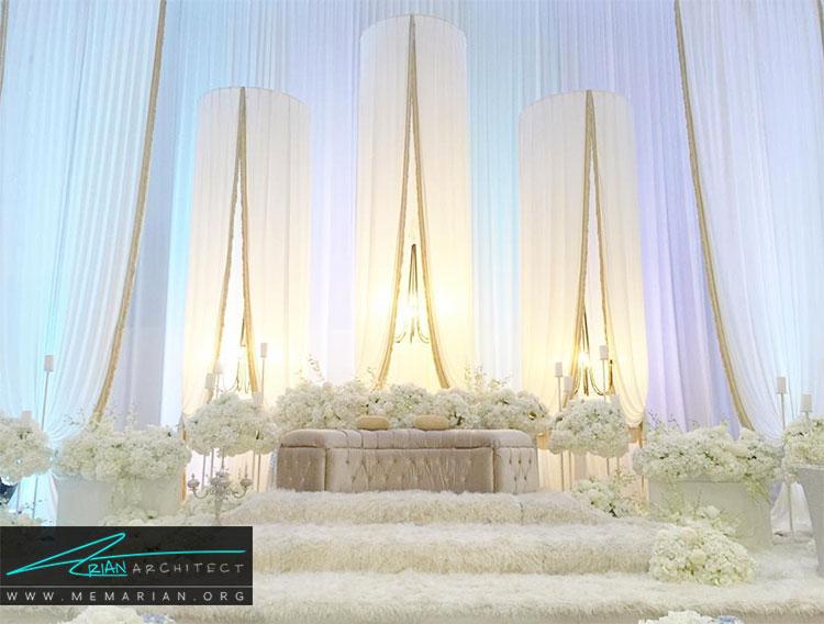 تزیین و چیدمان کلبه عروس با رنگ های روشن