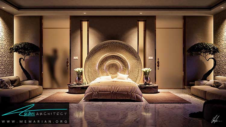 نور در دکوراسیون اتاق خواب