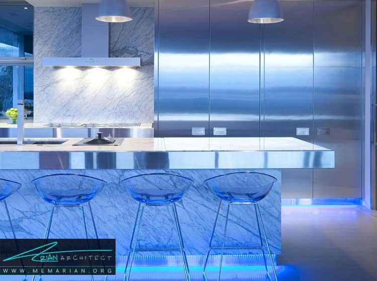 نور در دکوراسیون اتاق آشپزخانه