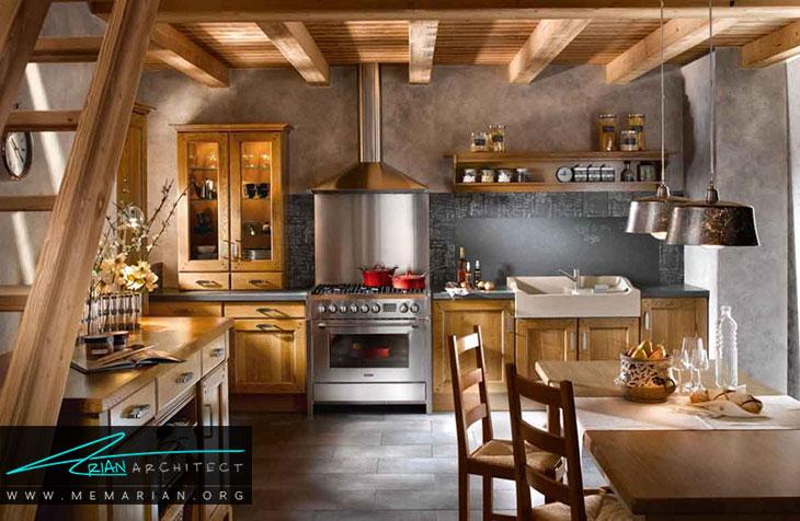 دکوراسیون آشپزخانه به سبک سنتی