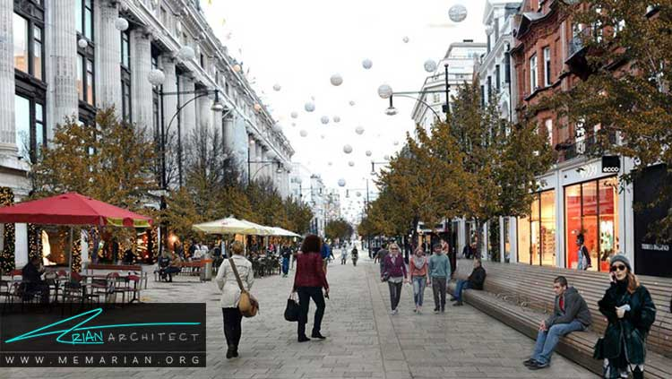 طرح پیشنهادی معماران زاها حدید برای خیابان های لندن