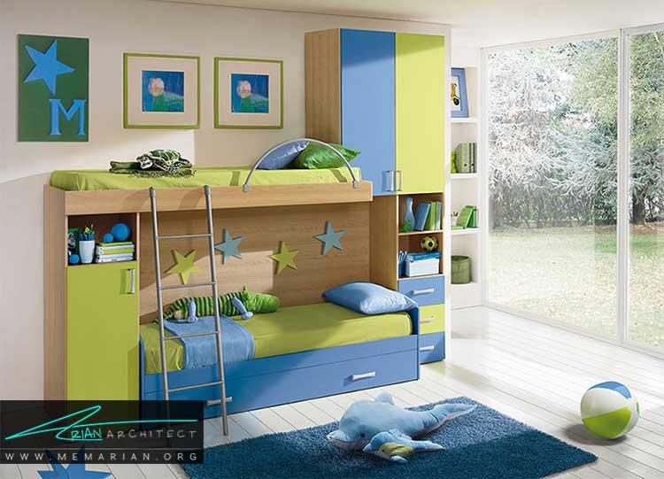 رنگ در دکور اتاق پسران