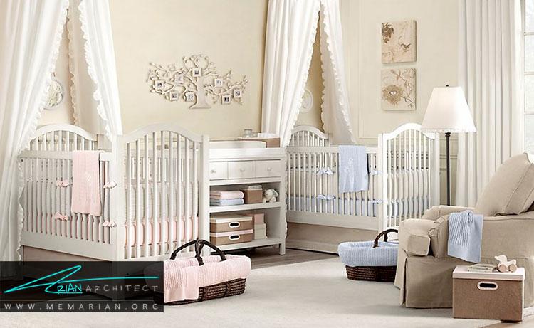 چیدمان اتاق نوزاد با وسایل مورد نیاز