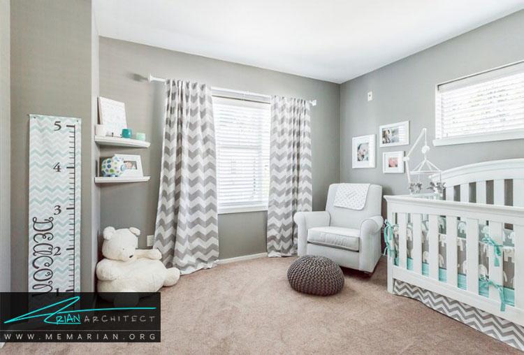 اتاق نوزاد با طراحی آرام بخش