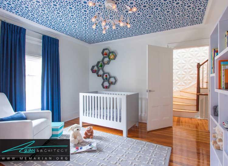 رنگ در دکوراسیون اتاق نوزادان پسر