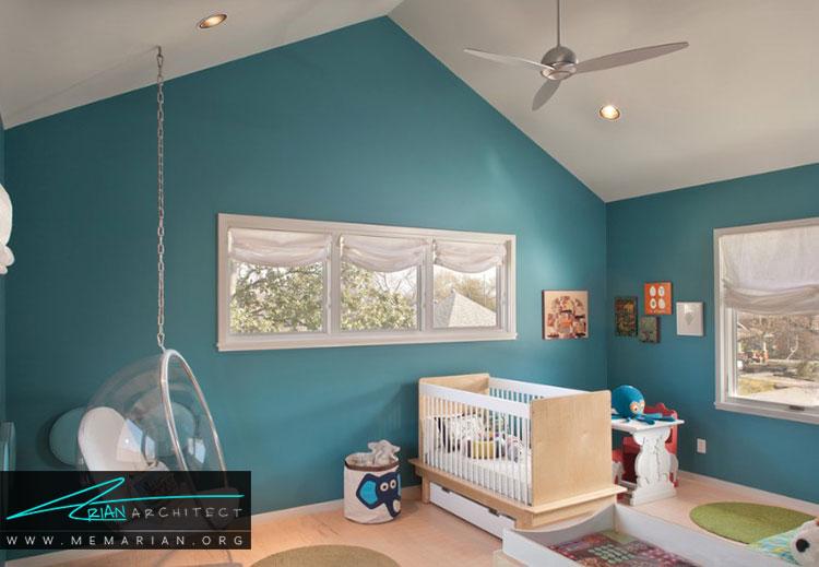 دیوارها در دکوراسیون اتاق نوزادان