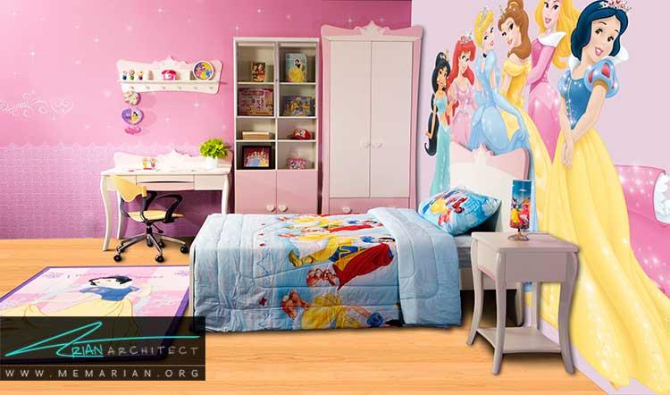 رنگ های شاد در دکور اتاق دختران