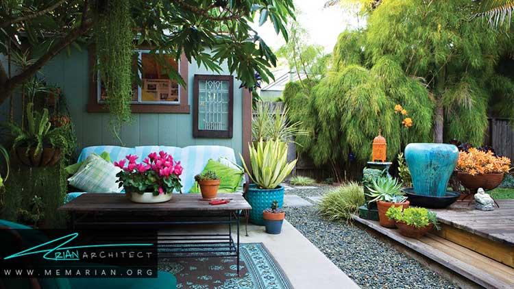 ایده های طراحی باغچه آرام