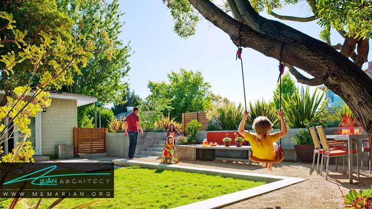 طراحی فضای بازی کودکان در باغچه های کوچک