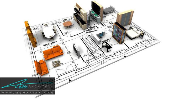 نقشه معماران داخلی در طراحی داخلی