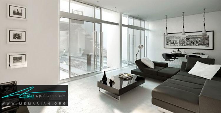 طراحی داخلی اتاق نشیمن و دکوراسیون پذیرایی