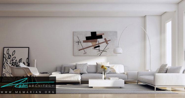 طراحی و دکوراسیون داخلی مدرن اتاق پذیرایی
