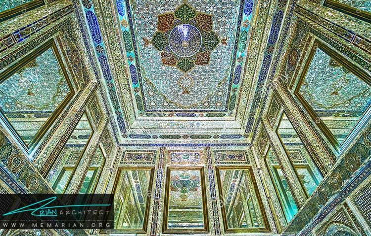 آینه کاری از تزیینات ایرانی در معماری