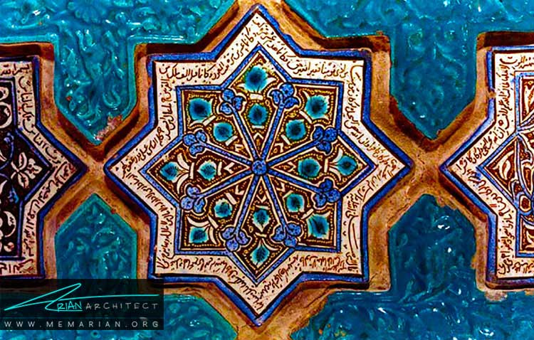 کاشی ها در تزیینات معماری ایرانی