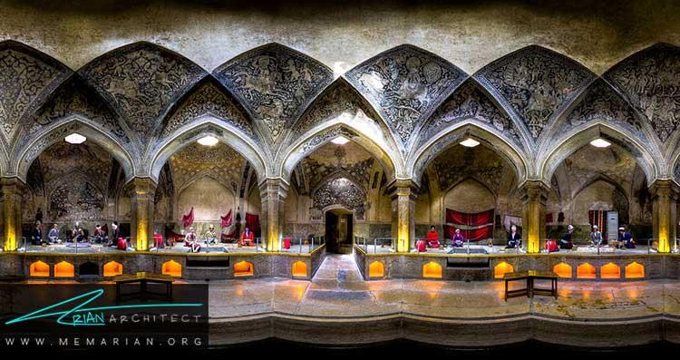 ساروج بری از تزیینات ایرانی در معماری