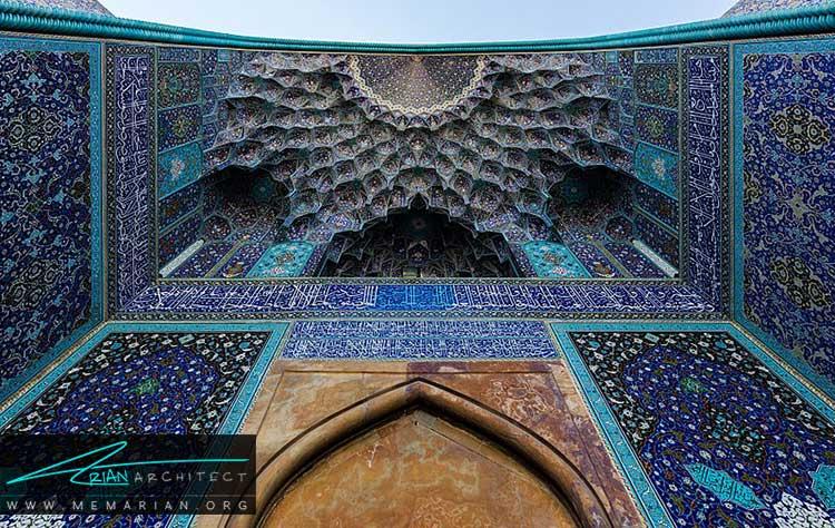 مقرنس کاری از تزیینات ایرانی در معماری