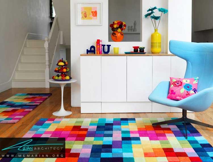 بافت و رنگ ها در تزئین خانه با لوازم جانبی