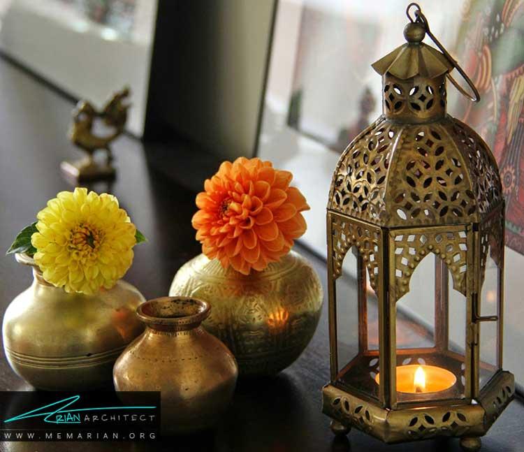 تزئین خانه با شمع و شمعدان ها