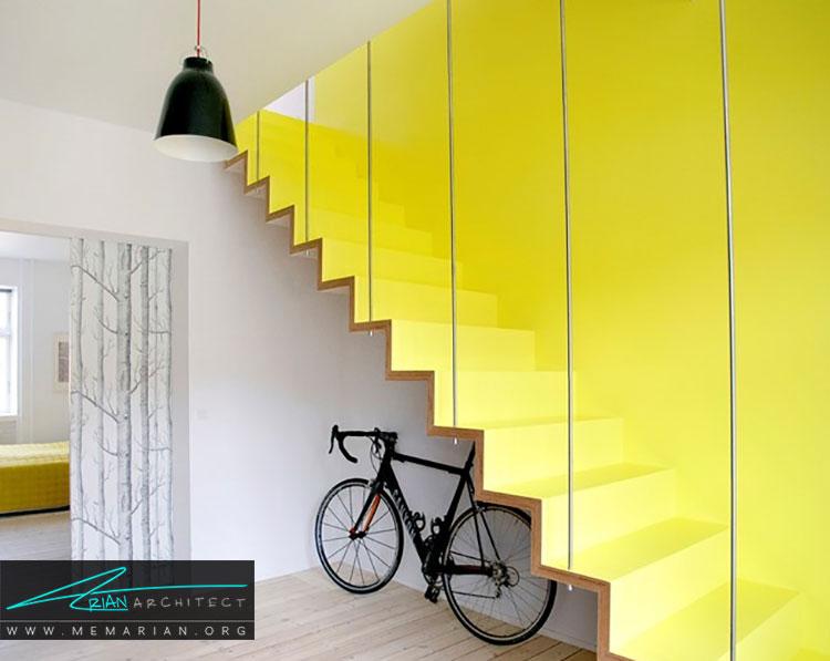 نقش رنگ در دکوراسیون راه پله ها