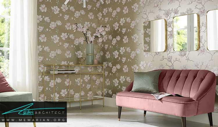 کاغذ دیواری با طرح ها و الگوهای زیبا