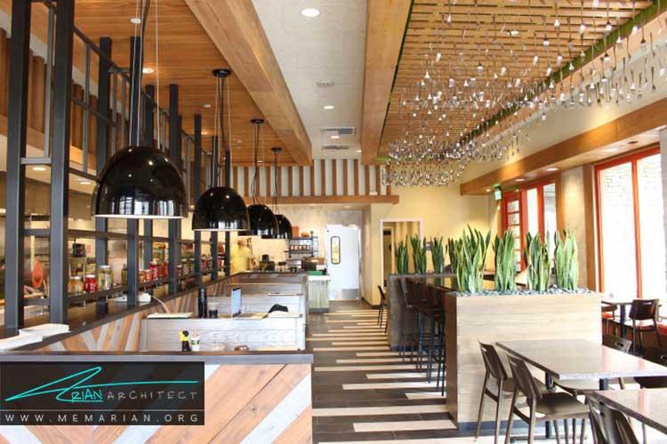 دکوراسیون و چیدمان مبلمان در طراحی رستوران