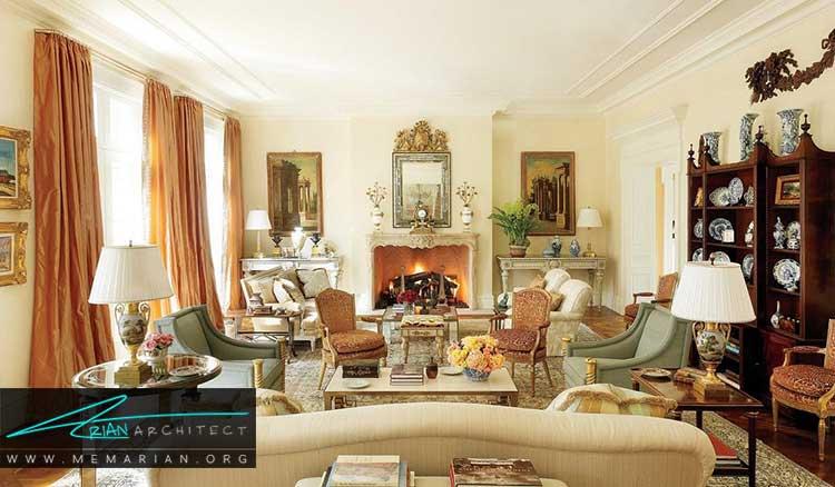 اتاق نشیمن طراحی شده توسط طراحان آمریکایی
