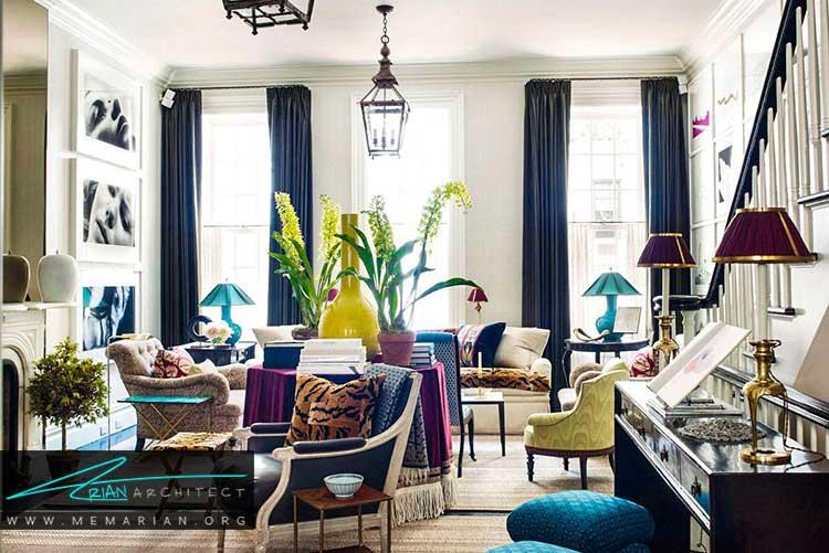 اتاق نشیمن به طراحی طراحان داخلی آمریکا