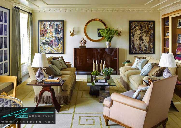 طراحی اتاق نشیمن زیبا