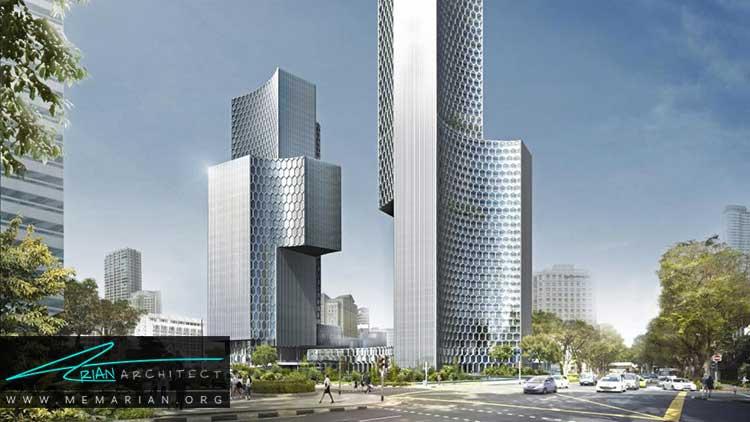 دو برج سازگار با محیط زیست در سنگاپور