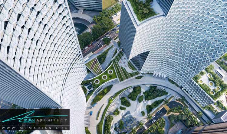 طراحی آسمان خراش DUO نمونه ی معماری برتر