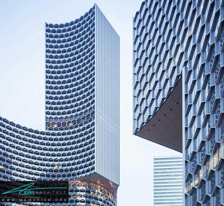 نمای لانه زنبوری در برج های سنگاپور