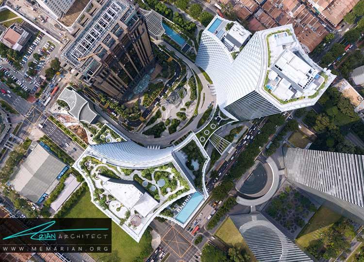 طراحی آسمان خراش لانه زنبوری در سنگاپور