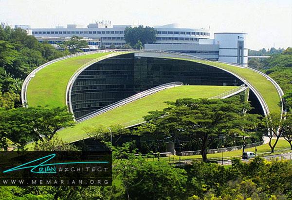 پوشش گیاهی مدرسه هنر سنگاپور