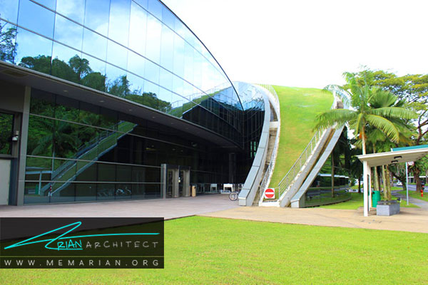 سقف ساختمان مدرسه هنر سنگاپور