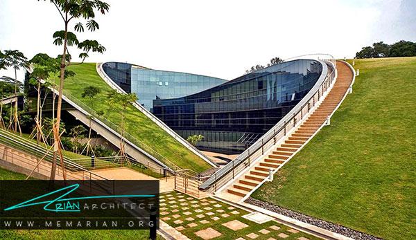 نور و نما در ساختمان مدرسه هنر سنگاپور
