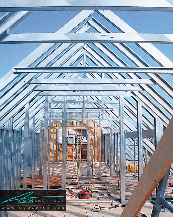 نیاز کم به تجهیزات از مزایای سیستم سازه های فولادی سبک (LSF)