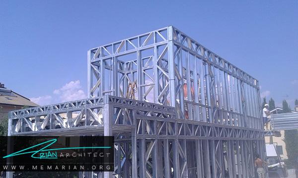 مقاوم در برابر زلزله و طوفان های شدید از مزایای سیستم سازه های فولادی سبک (LSF)