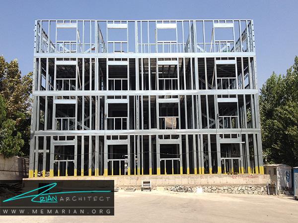 سرعن در اجرا از مزایای سیستم سازه های فولادی سبک (LSF)